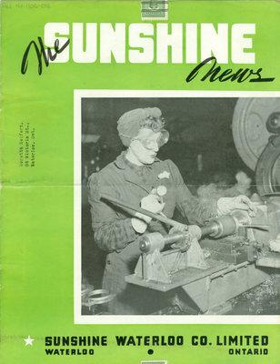 Sunshine Waterloo Company Sunshine News newsletter, January February, 1945