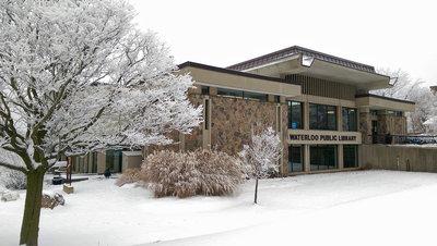 Waterloo Public Library in the Winter, Albert Street