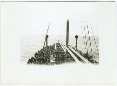 WWI Soldier's View on Ship Returning Home