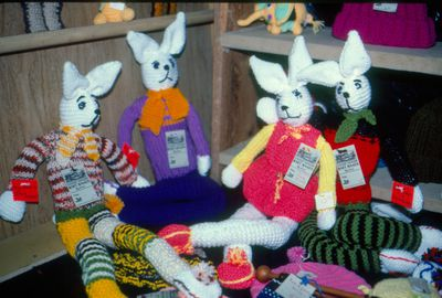 Waterloo County Farmers' Market, Knitted Rabbits