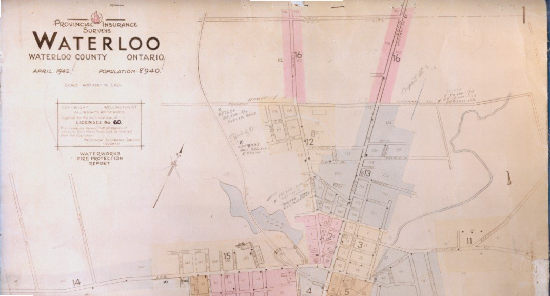 Fire Insurance Map 1942: Waterloo Public Library Digital Collections
