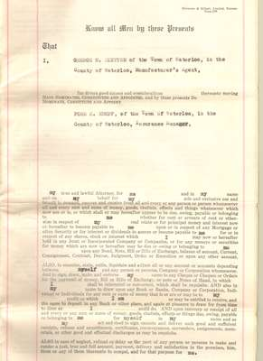 Power of Attorney for George H. Aletter appointed to Ford S. Kumpf, June 7, 1932