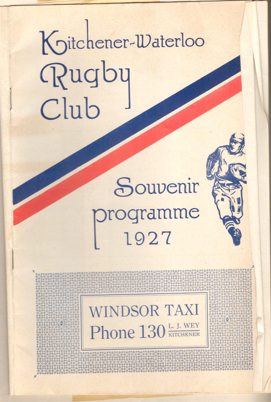 Alexander Peters\' KW Rugby Club Scrapbook 1923-1932; Rugby Club ...