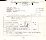 Statement of Sale from the Dominion Securities Corporation to Mary Kumpf, January 7, 1941