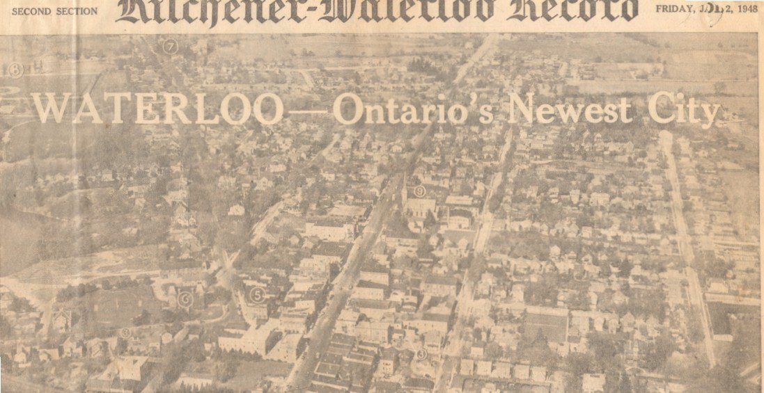 "Kitchener-Waterloo Record ""Cityhood"" Edition, January 2"