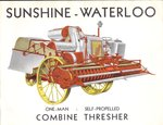 Sunshine Waterloo Combine Thresher Brochure, 1930