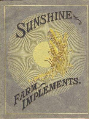Sunshine Farm Implements, Australia, catalogue, ca. 1920s