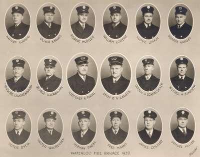 Waterloo Fire Department Members, 1939