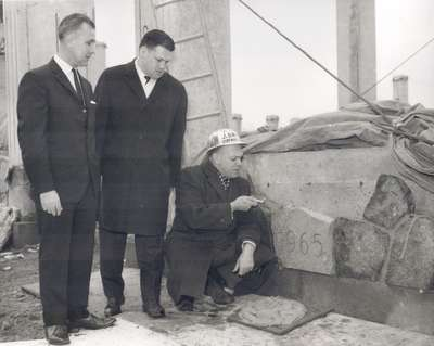 Laying of the cornerstone at 35 Albert Street location