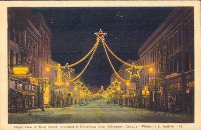 King Street Christmas Decorations, Kitchener, Ontario
