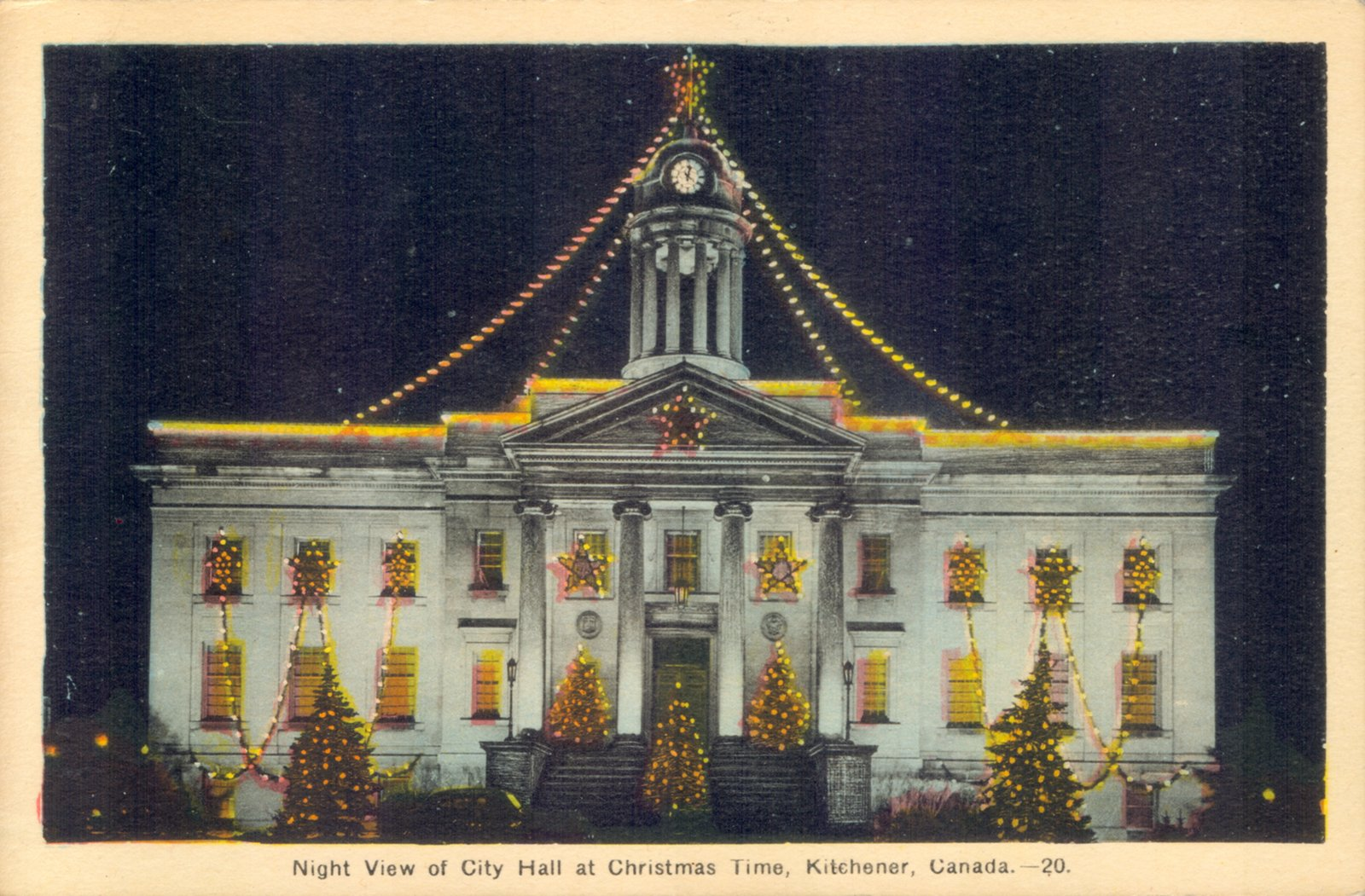 Kitchener City Hall Decorated For Christmas Waterloo