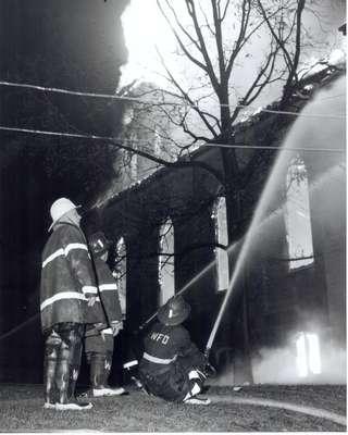 St. John's Lutheran Church 1959 Fire