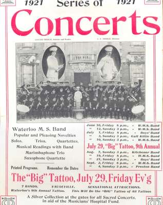 Waterloo Musical Society Concerts, 1921