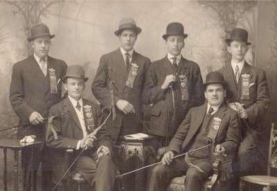 Group of Men, studio portrait