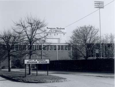 Seagram Stadium Sign and Driveway, Waterloo, Ontario