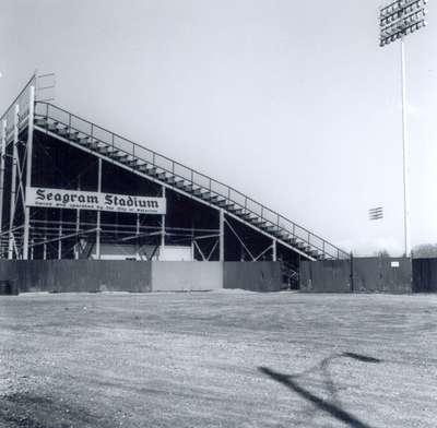 Side View of Seagram Stadium Bleachers, Waterloo, Ontario