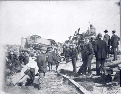 Train Wreck, Waterloo-Elmira Branch Line, 1902
