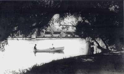 Rowing on Silver Lake, Waterloo, Ontario