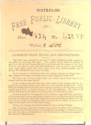 Waterloo Public Library Bookplate
