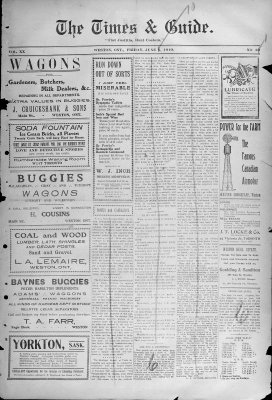 Times & Guide (Weston, Ontario), 3 Jun 1910