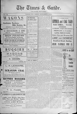 Times & Guide (Weston, Ontario), 2 Sep 1910