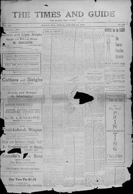 Times & Guide (Weston, Ontario), 15 Jan 1909