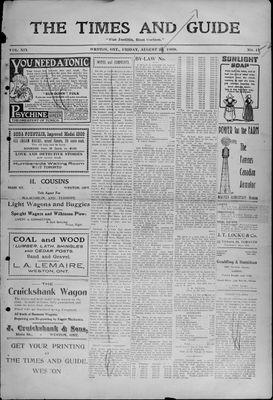 Times & Guide (Weston, Ontario), 20 Aug 1909