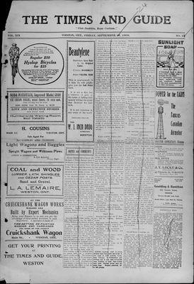 Times & Guide (Weston, Ontario), 17 Sep 1909