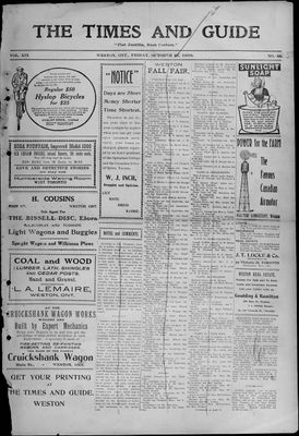 Times & Guide (Weston, Ontario), 15 Oct 1909