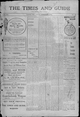 Times & Guide (Weston, Ontario), 29 Oct 1909