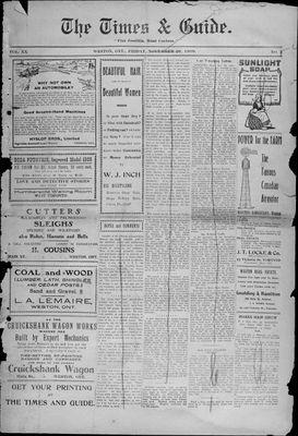 Times & Guide (Weston, Ontario), 26 Nov 1909