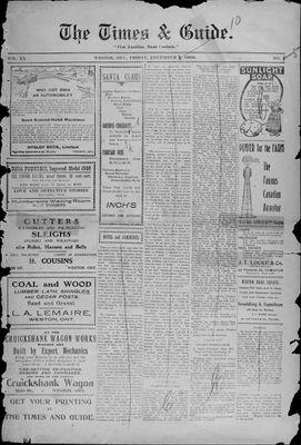 Times & Guide (Weston, Ontario), 3 Dec 1909