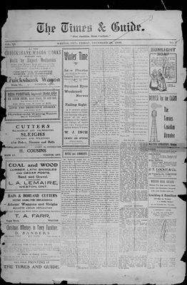 Times & Guide (Weston, Ontario), 24 Dec 1909