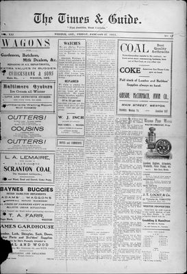 Times & Guide (Weston, Ontario), 27 Jan 1911