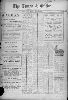 Times & Guide (Weston, Ontario), 26 May 1911