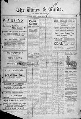 Times & Guide (Weston, Ontario), 7 Jul 1911