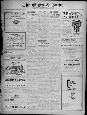 Times & Guide (Weston, Ontario), 22 Sep 1920