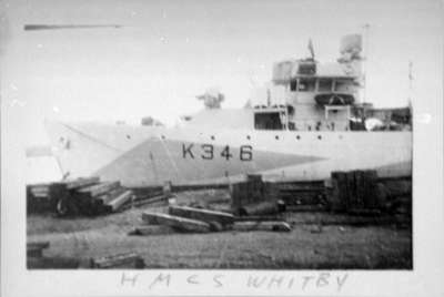 H.M.C.S. Whitby at Midland, Ontario, 1944