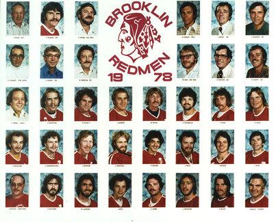Brooklin Redmen Senior A Lacrosse Team, 1978