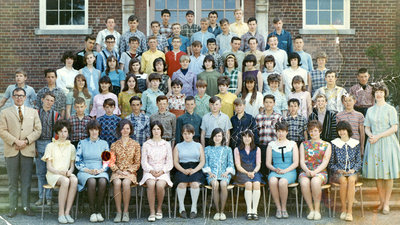 Brooklin Senior Public School Grade 8 Class, 1966-67