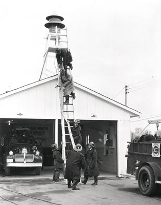 Garrard Road Fire Department Ladder Drill, 1961