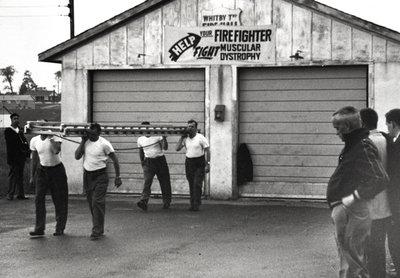 Garrard Road Fire Department Ladder Drill, 1959