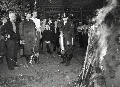 Fire Extinguisher Demonstration, 1950
