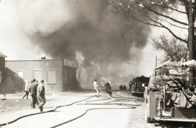 Price Lumber Yard Fire, 1962