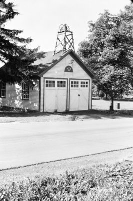 Whitby Fire Station at Port Whitby, 1958