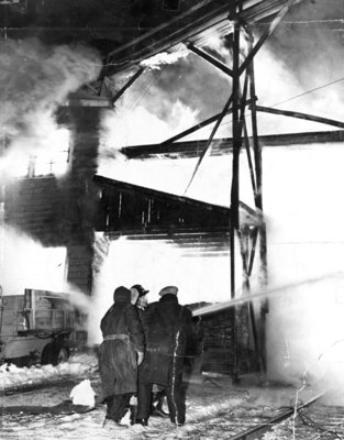 Brunton Lumber Yard Fire, 1951