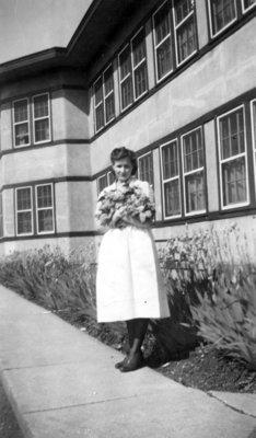 Amy Kirby at Ontario Hospital, ca.1950