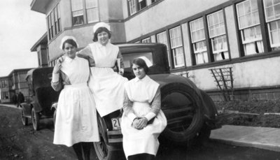 Nurses at Ontario Hospital, 1929