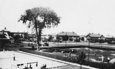 Ontario Hospital Tennis Court and Miniature Golf Course, ca.1931