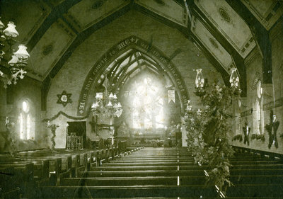 All Saints' Anglican Church Interior. C. 1897